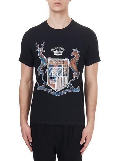 Etro % 100 Pamuklu Bisiklet Yaka T Shirt Erkek T Shırt 1Y020 97590 001 Siyah